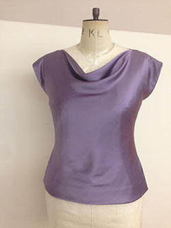 bias silk top